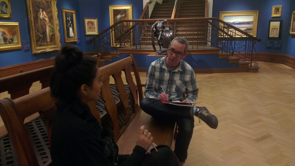 A user research interview being conducted at Bristol Museum