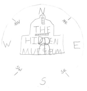 Kid's drawing of hidden museum logo