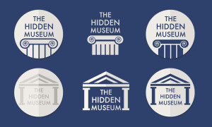 First round of hidden museum logos
