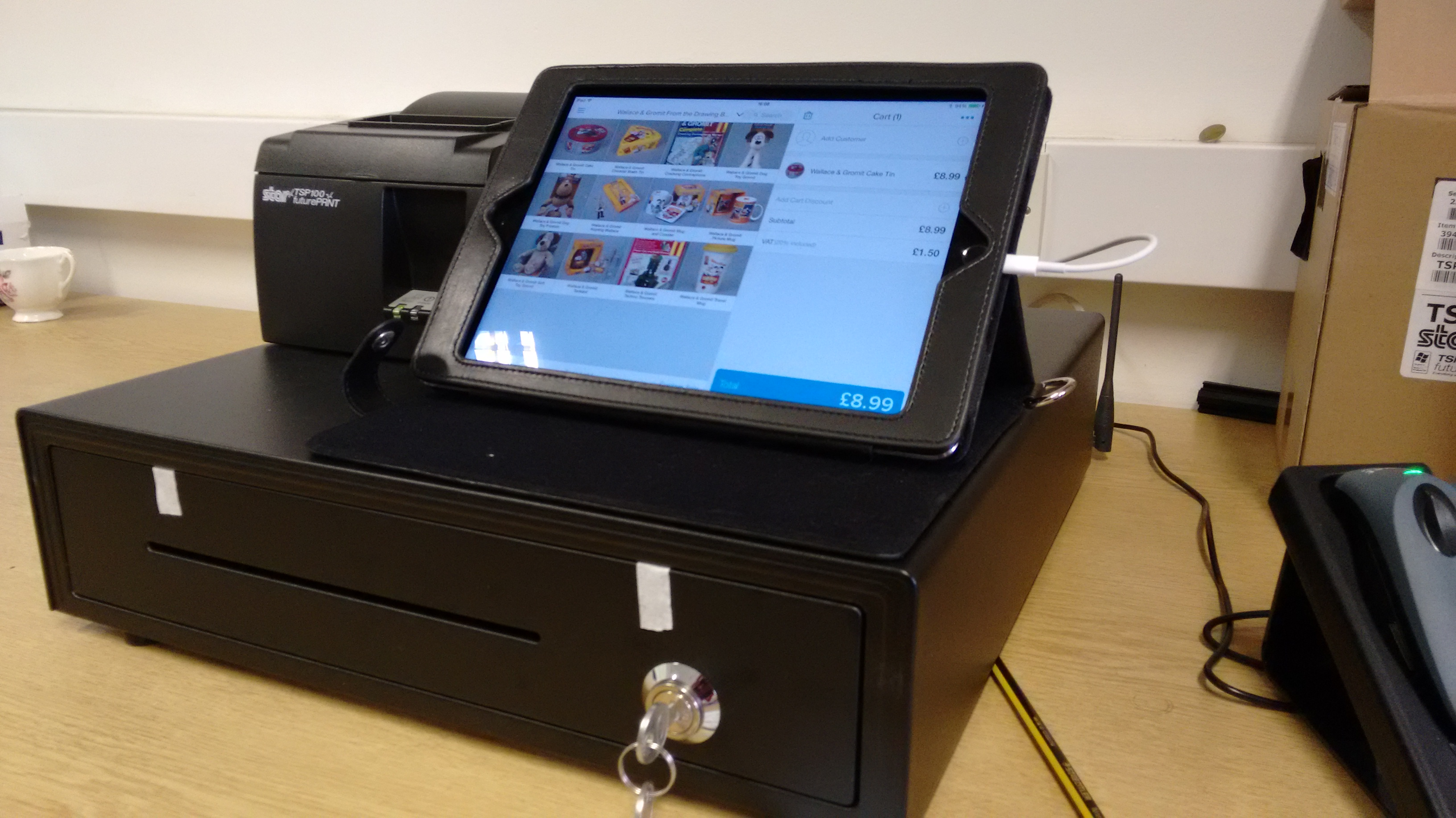 Photo of Shopify till - iPad, till and printer first use