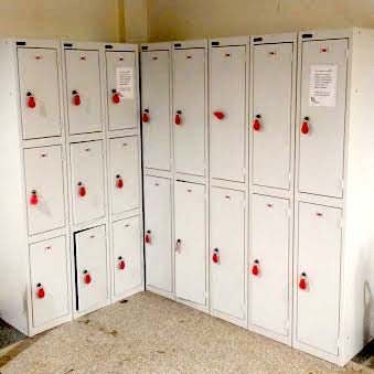 Photo showing grey lockers