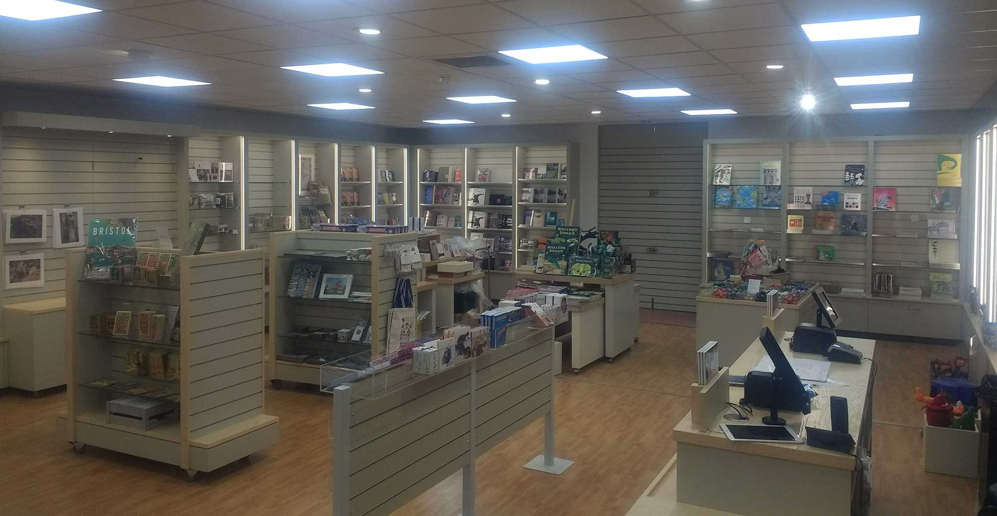 Photo of newly refit shop at Bristol Museum & Art Gallery